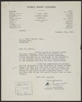 Letter to J.W.C. Turner from A.L. Easterman, November 6th, 1942