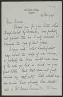 Letter to J.W.C. Turner from J.L. Brierly, 14 Dec. 1943