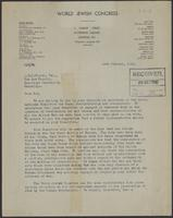 Letter to J.W.C. Turner from A.L. Easterman, 16th October, 1942