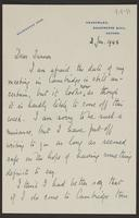 Letter to Turner from J.L. Brierly, 3 Jan. 1944