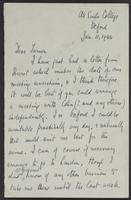 Letter to J.W.C. Turner from J.L. Brierly, Jan. 11, 1944
