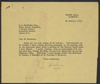 Correspondence between A.L. Easterman and J.W.C. Turner, October, 1942