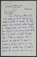 Letter to J.W.C. Turner from J.L. Brierly, 20 Nov. 1943