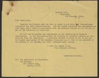 Correspondence between J.W.C. Turner and the Yugoslav Embassy