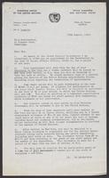 United Nations Letter from J.P.H. Reyne to Leon Radzinowicz