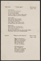 Commemoration of Benefactors, Menu and Songs, page 3