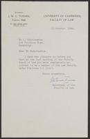 3 Letters to Dr. Radzinowicz from J.W. Cecil Turner, page 1