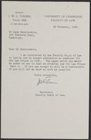 3 Letters to Dr. Radzinowicz from J.W. Cecil Turner, page 3