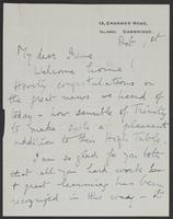 Letter to Irene from Helena P. Winfield