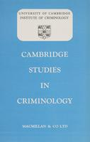 Cambridge Studies in Criminology