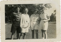 Jean Marshick, Mollie Carroll, Linda Broderick, and Cappy Longstreth