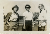 Linda Broderick, Jean Marshick, and Mollie Carroll on Landis Green