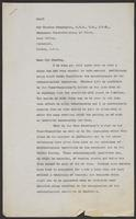 Draft Letter to Sir Charles Cunningham