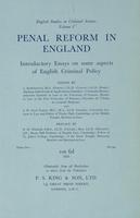 Penal Reform in England