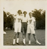 Sadie Presnell, Midge Presnell, and Mary Buchannan in a Park