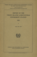 Report of the Virgin Islands Agricultural Experiment Station 1931
