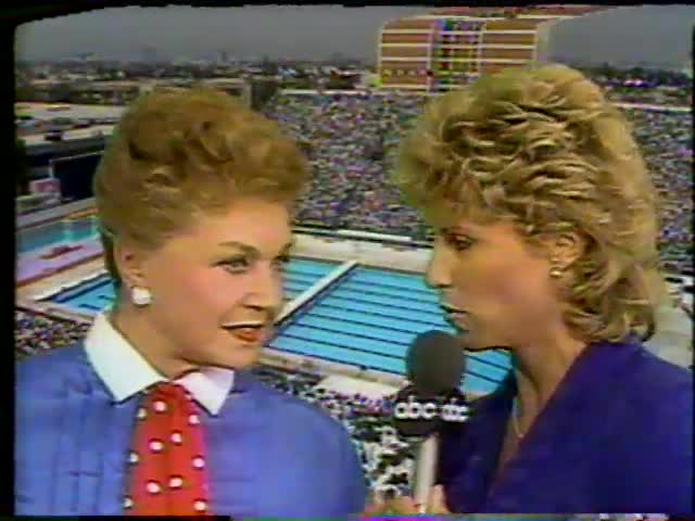 1984 Olympics Synchronized Swimming Coverage
