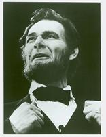 Actor Richard Blake portraying Abraham Lincoln at Ford's Theatre