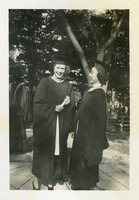Martha Stroberg and Janet Wells on Graduation Day