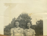 Edna Earle Wilson and Evelyn Butts, Sophmore Council Girls