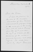 Letter to Dr. Dirac, 1927