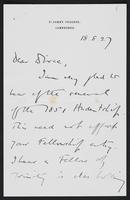 Letter to Dr. Dirac, August 18, 1927
