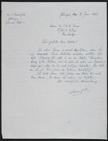 Letter to Dr. Dirac, June 5, 1928