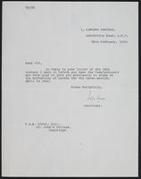 Letter to Dr. Dirac, February 20, 1928