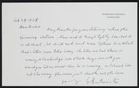 Letter to Dr. Dirac, February 29, 1928