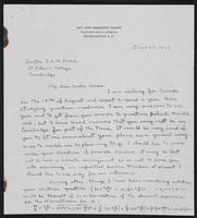Letter to Dr. Dirac, June 20, 1928