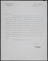 Letter to Dr. Dirac, February 27, 1928