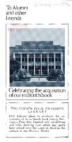 To Alumni and other Friends: Celebrating the acquisition of our millionth book