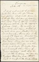Letter from Susan Fairbanks to her father John Beard, Sewanee, Feb. 1st
