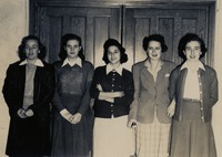 Five Women in Front of a Door