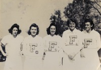 Louise Fernandez, Mickey Fountain, Catherine Barrs, Sarah Bennett and One Other Member of F Club