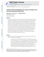 Children's behavioral regulation and literacy
