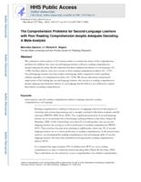Comprehension Problems for Second-Language Learners with Poor Reading Comprehension despite Adequate Decoding