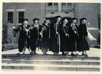 Marjorie Lambert, Victoria J. Lewis, Jeanne Eyman, Mary Lippitt, Jean Lloyd, Martha Twitty and Ethyl Fields at Graduation