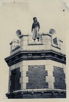 Betty Collier on Top of Westcott Building Tower