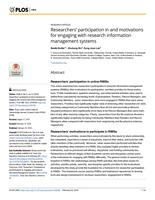 Researchers' Participation In And Motivations For Engaging With Research Information Management Systems