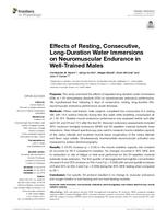 Effects Of Resting, Consecutive, Long-duration Water Immersions On Neuromuscular Endurance In Well-trained Males