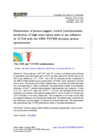 Observation Of Proton-tagged, Central (semi)exclusive Production Of High-mass Lepton Pairs In Pp Collisions At 13 Tev With The Cms-totem Precision Proton Spectrometer