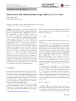 Measurement Of B Hadron Lifetimes In Pp Collisions At Root S=8tev