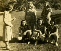 Group of Women in Athletic Uniforms Outside