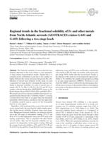Regional Trends In The Fractional Solubility Of Fe And Other Metals From North Atlantic Aerosols (geotraces Cruises Ga01 And Ga03) Following A Two-stage Leach