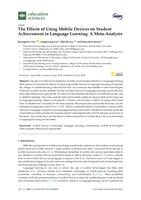 Effects Of Using Mobile Devices On Student Achievement In Language Learning