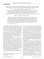 Fermi Surface Reconstruction And Dimensional Topology Change In Nd-doped Cecoin5