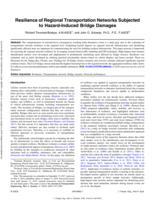 Resilience Of Regional Transportation Networks Subjected To Hazard-induced Bridge Damages