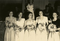 Five Women with Bouquets