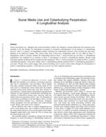 Social Media Use And Cyberbullying Perpetration